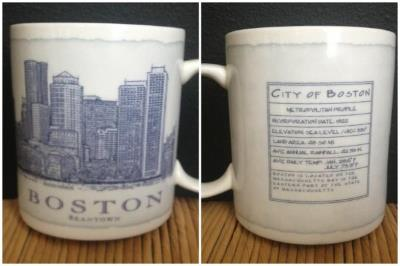 The mug that started it all. This mug is part of the Architecture series. It is very hard to find this series anymore so anytime I see one of these that I don't have I get it. I love that it has statistics about the city on it.