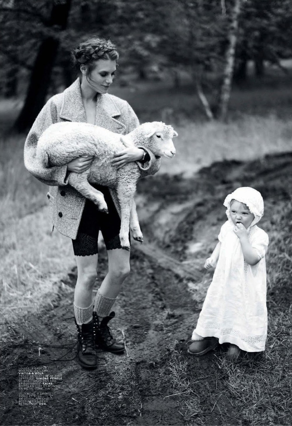 This image from Italian Vogue conveys how to go Amish in a modern way