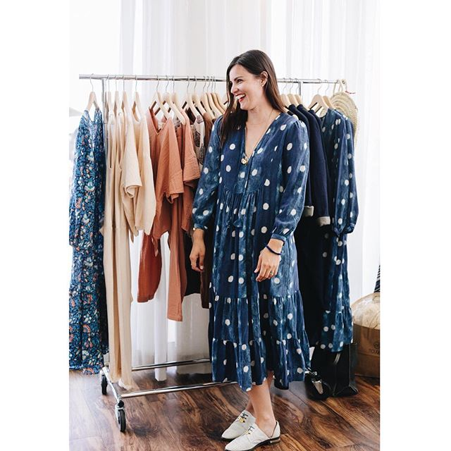 This could be you! Just 1 of these Alder Dresses left (1/M) 💙 💙(Thx for the 📷@beingoodcompany @kbrodge)