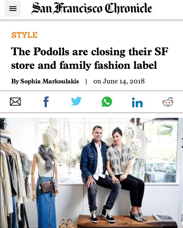 We are grateful to the @sfchronicle for the coverage of our story and our future in this weekend's paper. If this was the first you've heard of it, we would love to see you at the store in the next few weeks to bid this chapter farewell. Also, very good deals. 😉 Thanks as always for the support! 🙏🏻♥️