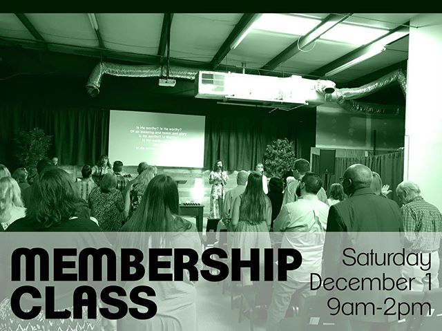 Have you been visiting with us and are ready to take the next steps? Want to learn more about who we are and what we do? Come out this Saturday morning for our membership class! Lunch will be provided.  RSVP with Chris or comment on this post to let us know you're coming!