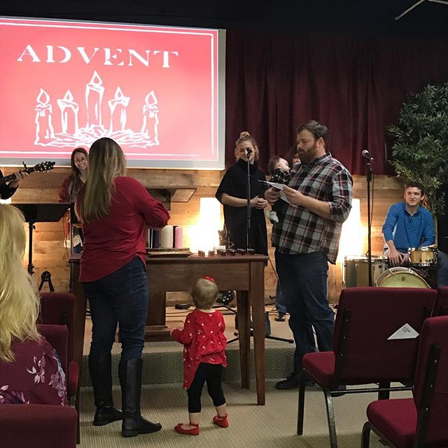 Today was the first day of Advent! Here is the Mason family leading us in the lighting of the first candle!