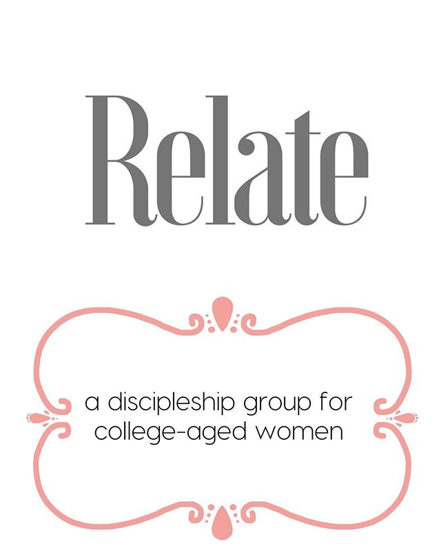 Young women's bible study and discipleship at RGCC starts this Wednesday at 8:00 PM. Contact @lydiaivy for details. #Relateat8
