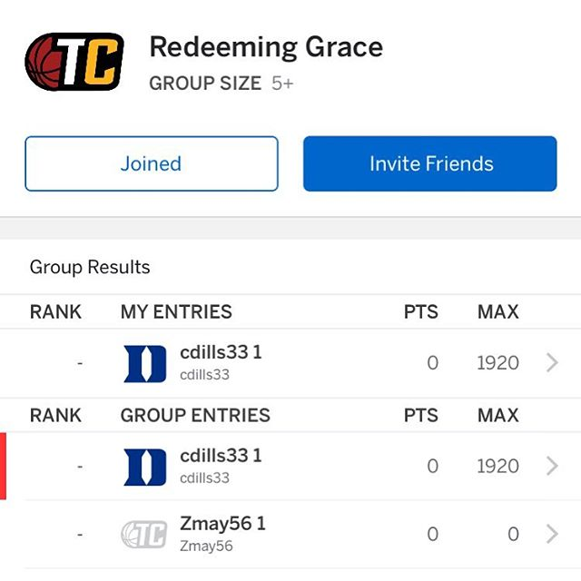 There's still time to jump into our church tournament bracket group! Password is John3:16 Whether you know basketball or not, jump in and fill one out!