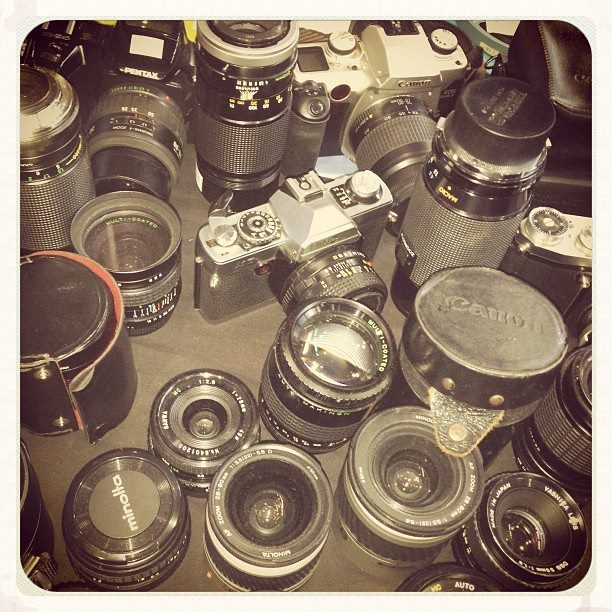 Vintage cameras at the St. Lawrence Market, Toronto