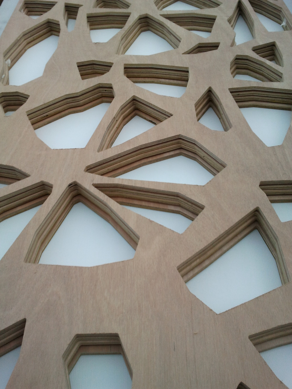 Customer designed raw unfinish 12mm plywood screens