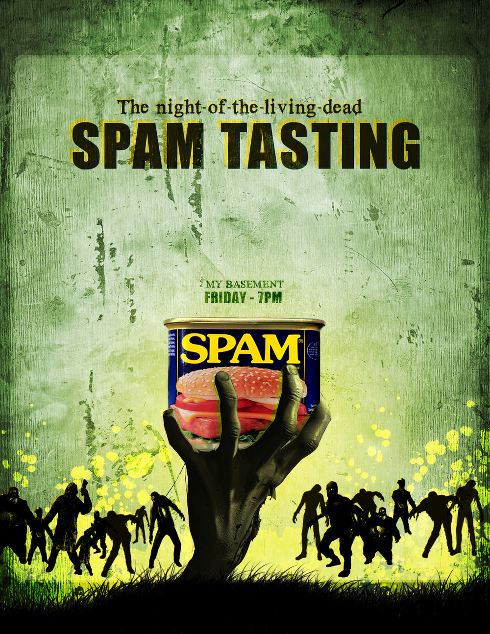 Some posters I made for a SPAM tasting. Friends came, but no one left happy...
