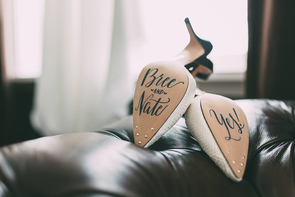 Wedding Shoes Lettering