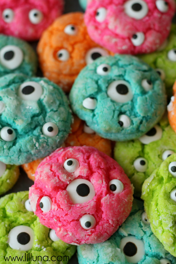Gooey Monster Cookies by Lil' Luna