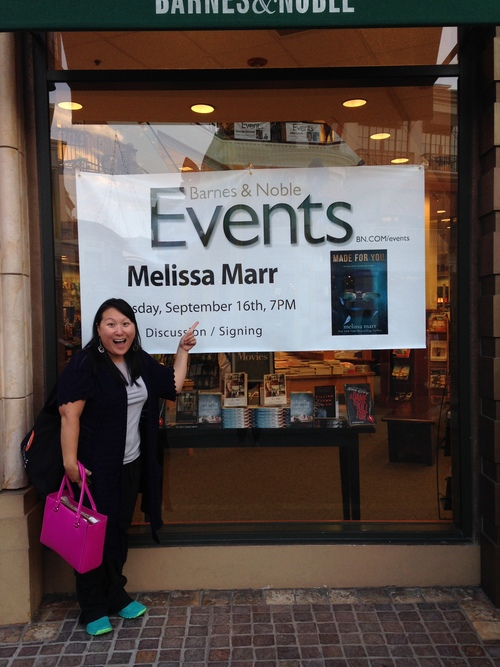 See how excited Kimberly is to see Melissa Marr?