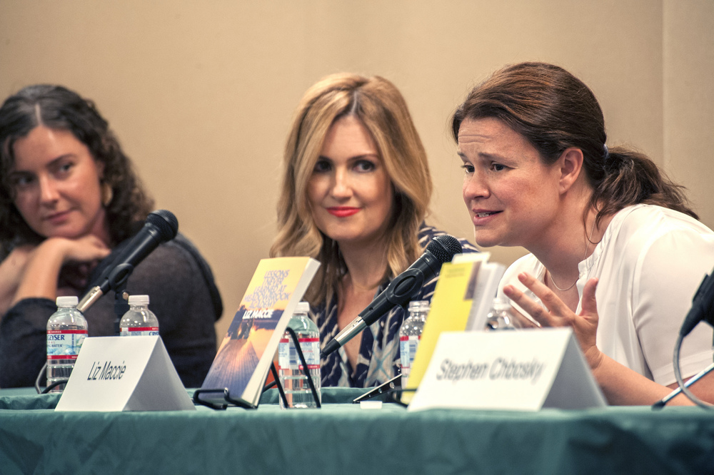 Ava Dellaira, Liz Maccie, and Jennifer Niven. Photo by Katie Ferguson.