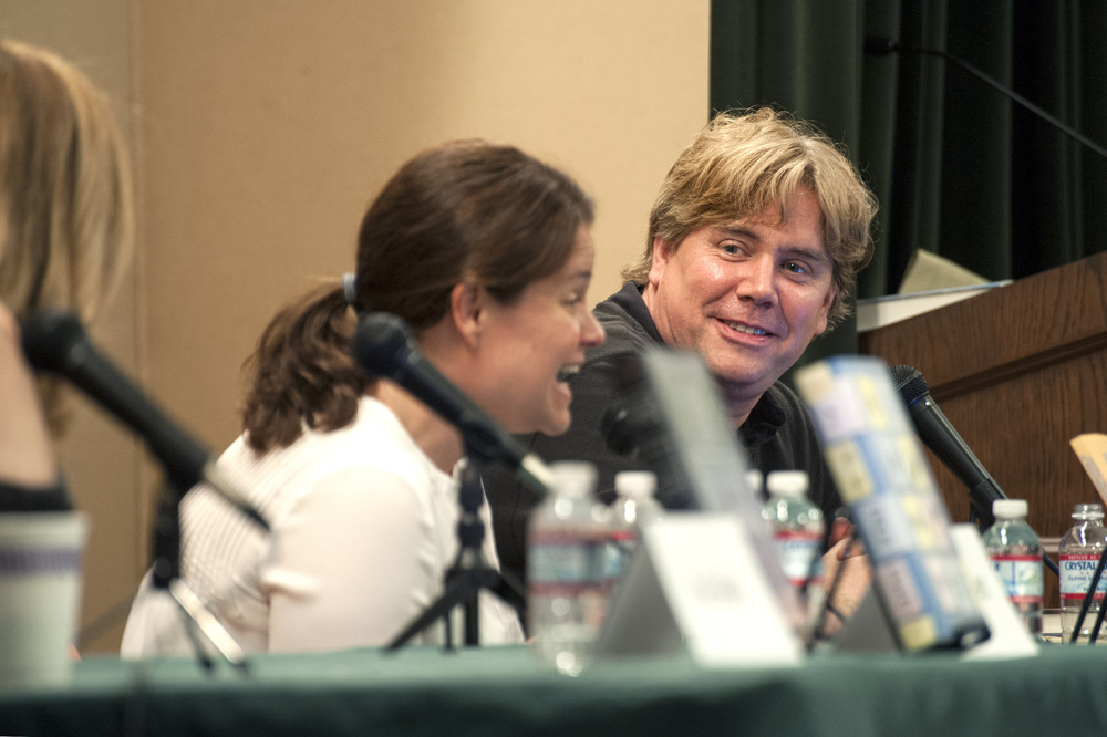 Liz Maccie and Stephen Chbosky. Photo by Katie Ferguson.