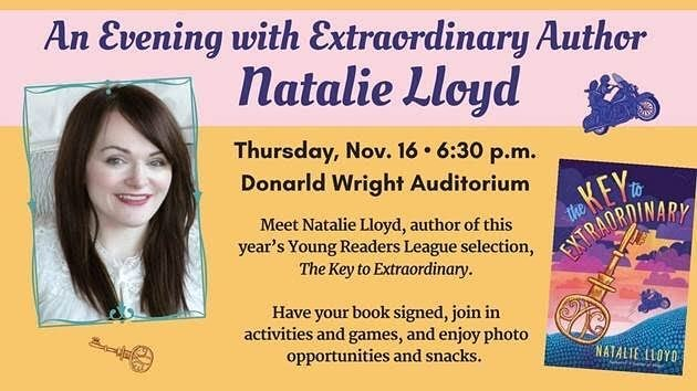 Local LA folks, mark your calendars for an awesome author even hosted by @pasadenalibrary. They'll be hosting author Natalie Lloyd on November 16, 2017. Check out the details below! . . Please join us on Thursday, November 16, 2017 for ghost stories, a scavenger hunt, prizes, hot chocolate, and a very special author! Young Readers League author event will be at Central Library on 11/16 starting 6:30pm. Readers of all ages are welcome! (Note: you do not need to read the book to attend. Registration is not required.  FREE EVENT) #bookish #bookstagram #reading #author #youngreader #youngreaders