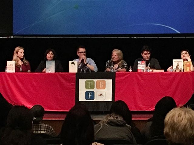 My copy of FAR FROM THE TREE got to be on stage with the authors today! 🙂 #ontariotbf
