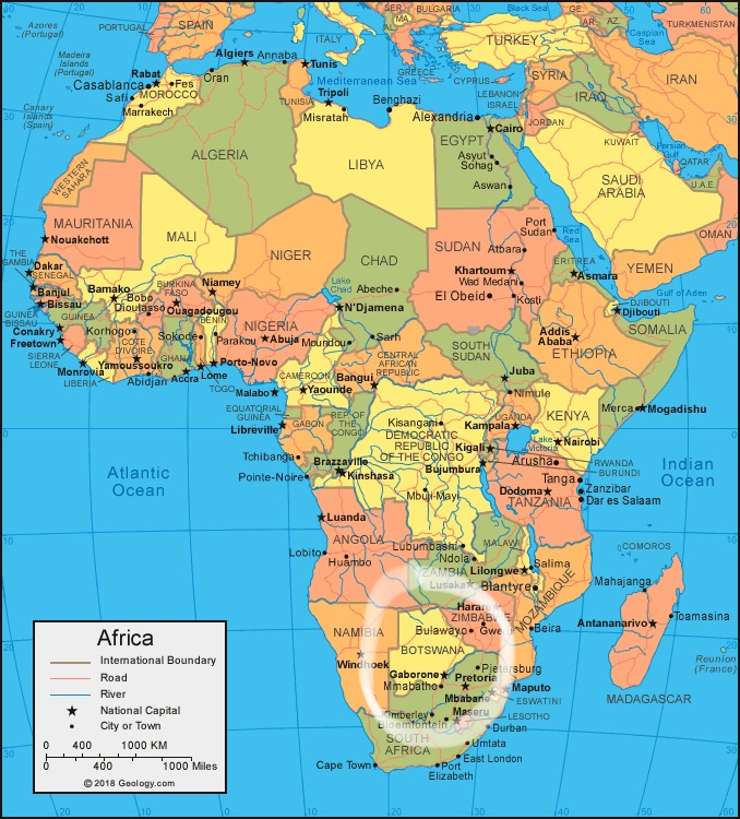 Map Of Africa Geography.The Safari Prep 1 Fly Camp Vs Permanent Camp And African Geography