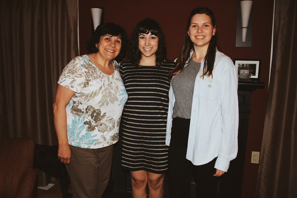 My mom, My Cousin and I on my Birthday :)