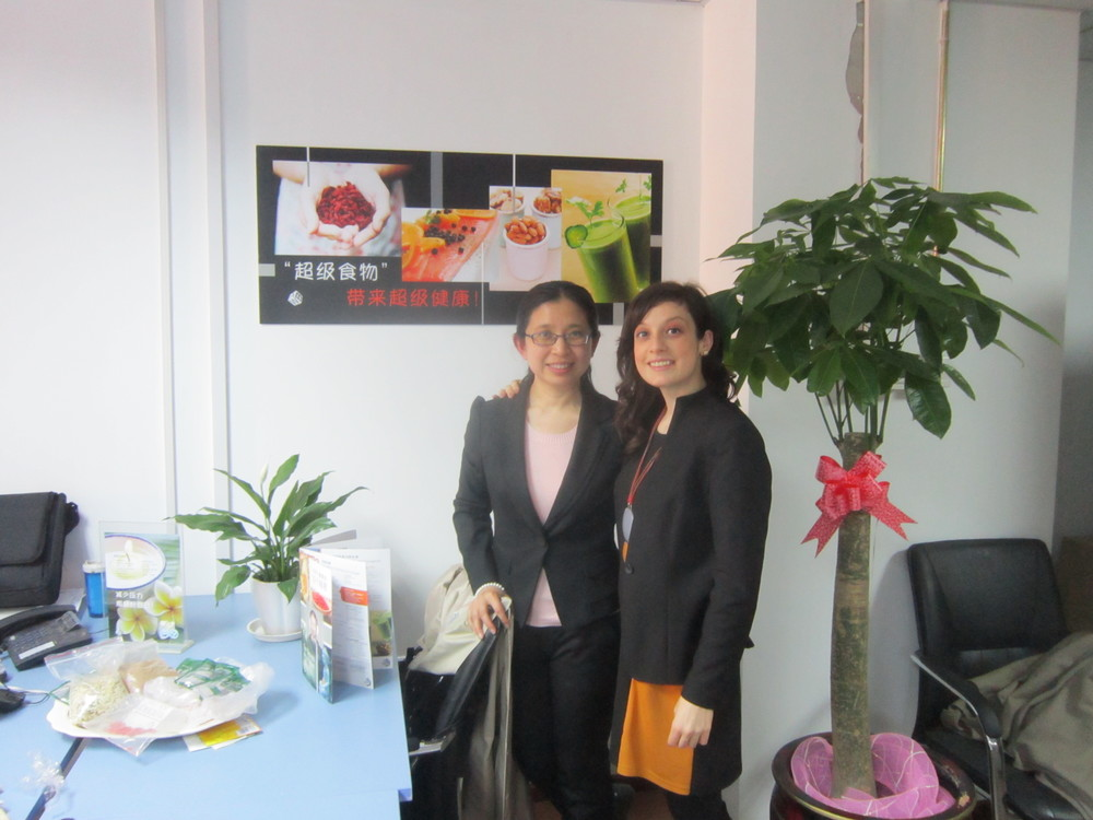 With ABW Project Coordinator Ge Lan