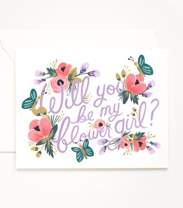 Will you be my flower girl?   - Rifle Paper Co.
