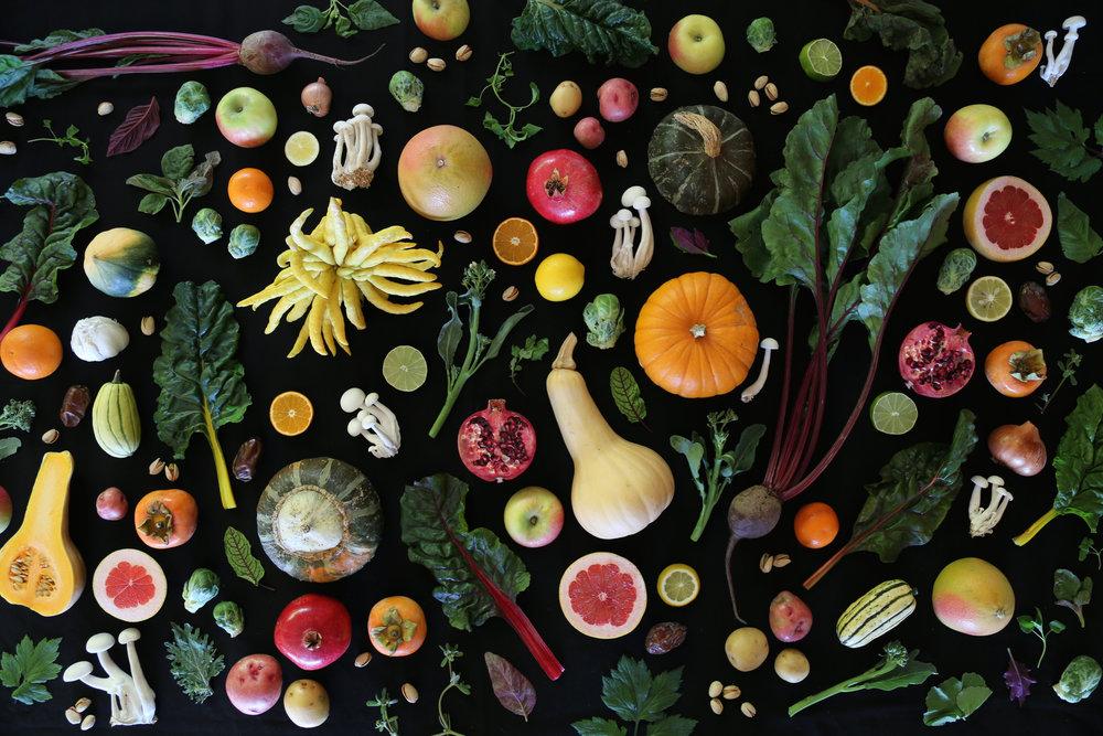 The San Luis Obispo Farmers' Market Cookbook .  Art direction: Kendra Aronson . Food Photography + Food Styling: Kendra Aronson .