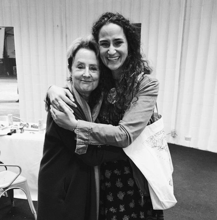 Kendra Aronson and Alice Waters at Cherry Bombe Jubilee San Francisco 2018. Photo credit: Jane Larkworthy.
