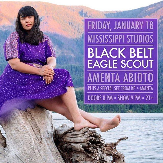 """This show right here is going down in history. Soul-stirring @blackbelteaglescout and I will be shaking the house at Mississippi Studios. We're kicking off the night with a special collaboration set with KP (BBES, the beauty pictured above) and I. We've known each other for 7 years, back when I used to dream of performing at spots like @mississippistudios. I remember thinking """"damn, she's cool!"""" Since then our paths have crossed mutiple times in the midst of us developing our crafts. Now here we are pruned for the task of creating together. I love how the future can tell itself sometimes. You get a feeling and it's up to time to tell. Come see the future this Friday at 8pm! $10 adv tix at  https://ticketf.ly/2DaFmrQ"""