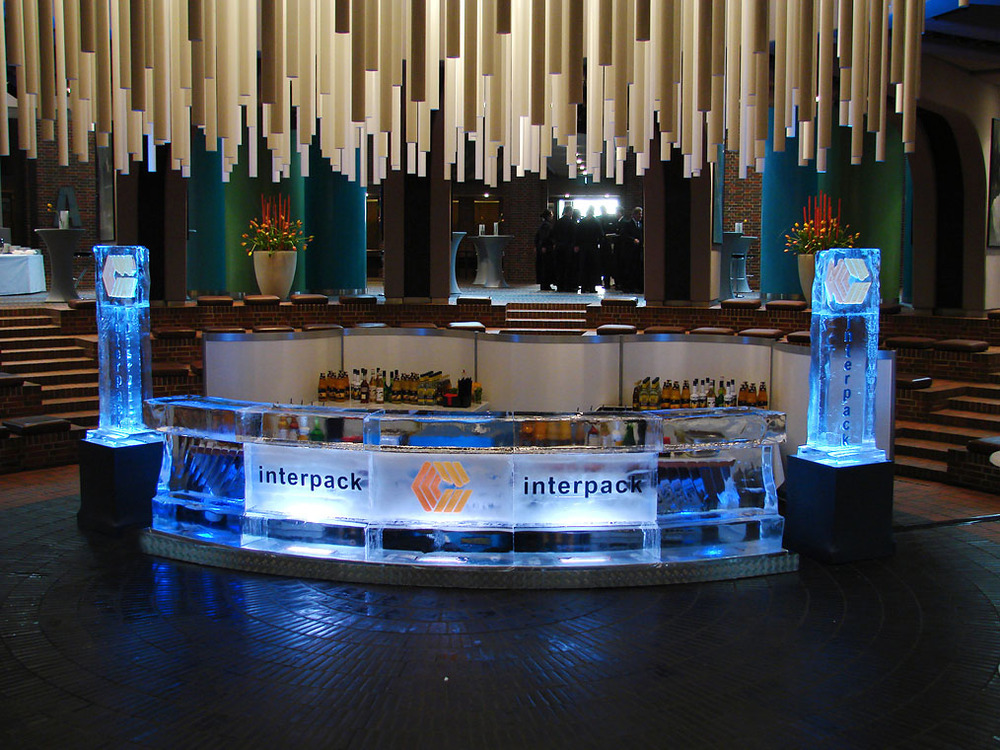 Interpack ice bar with logo towers.jpg