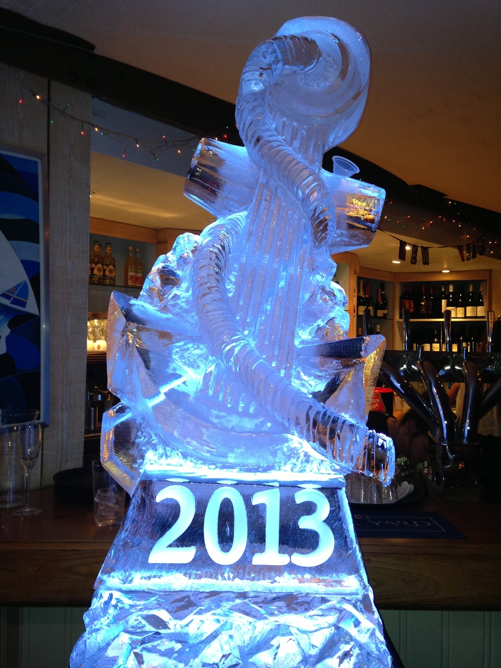 Vodka luge - Anchor with 2013 Engraving