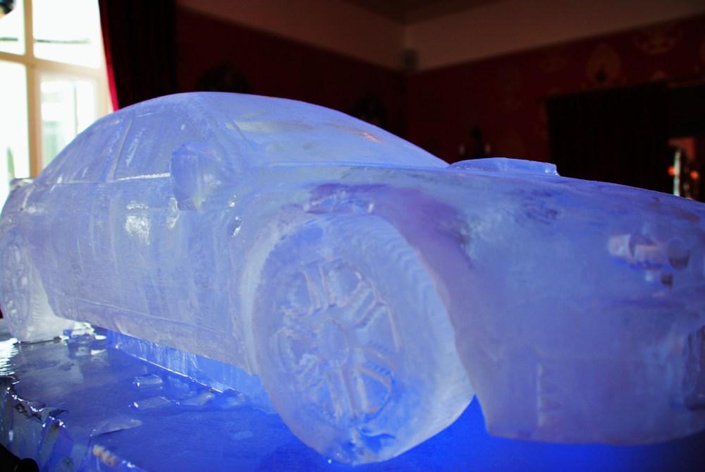 Subaru Car Ice Sculpture