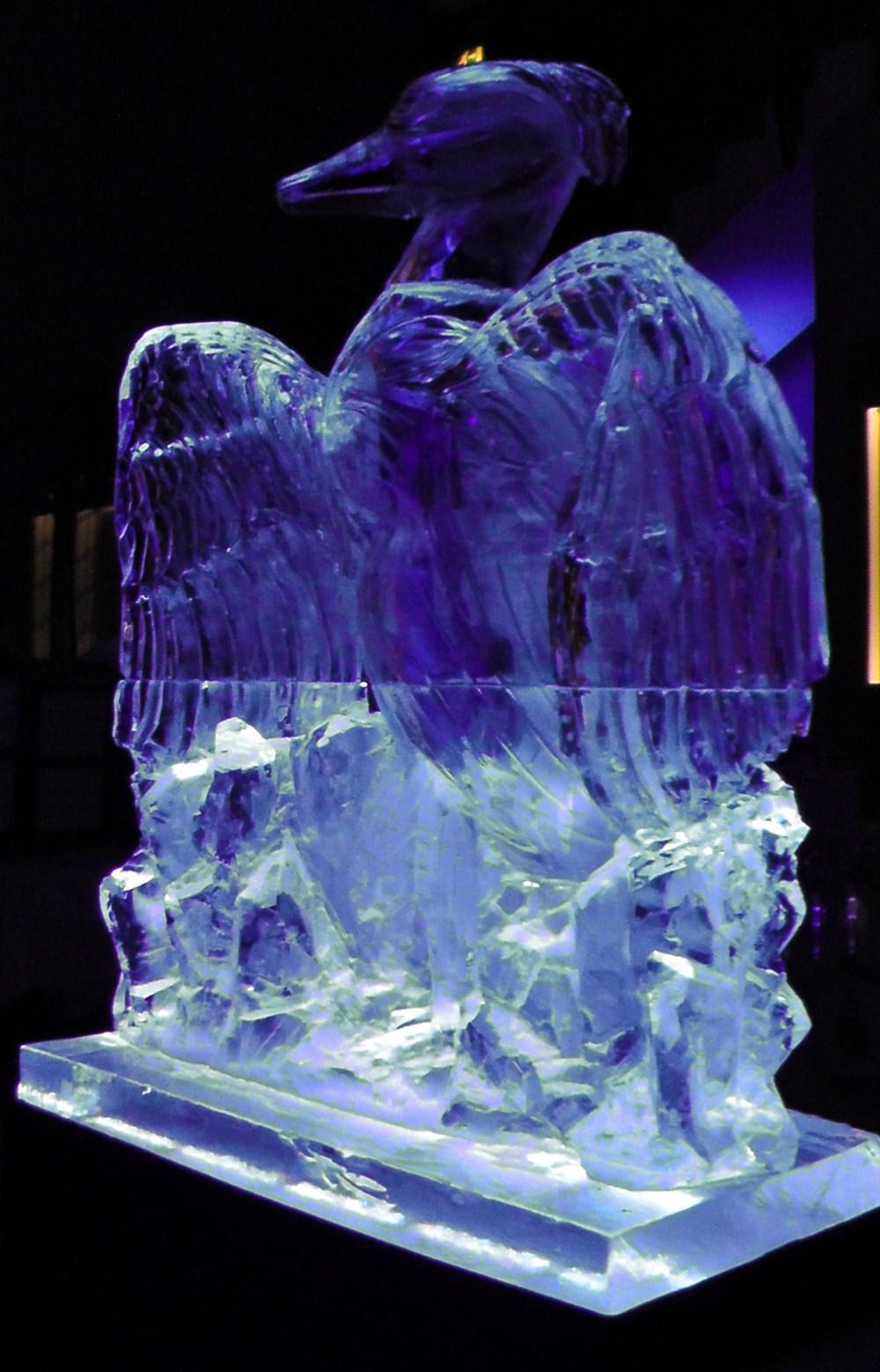 Heron Ice Sculpture