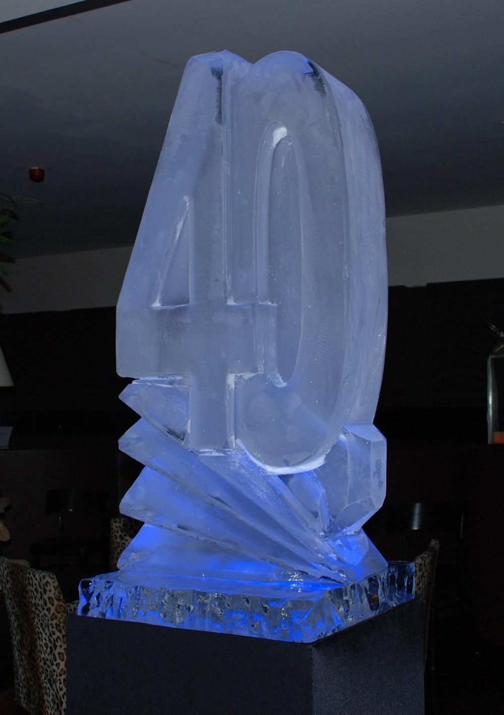 40 Celebratory Ice Sculpture Vodka Luge