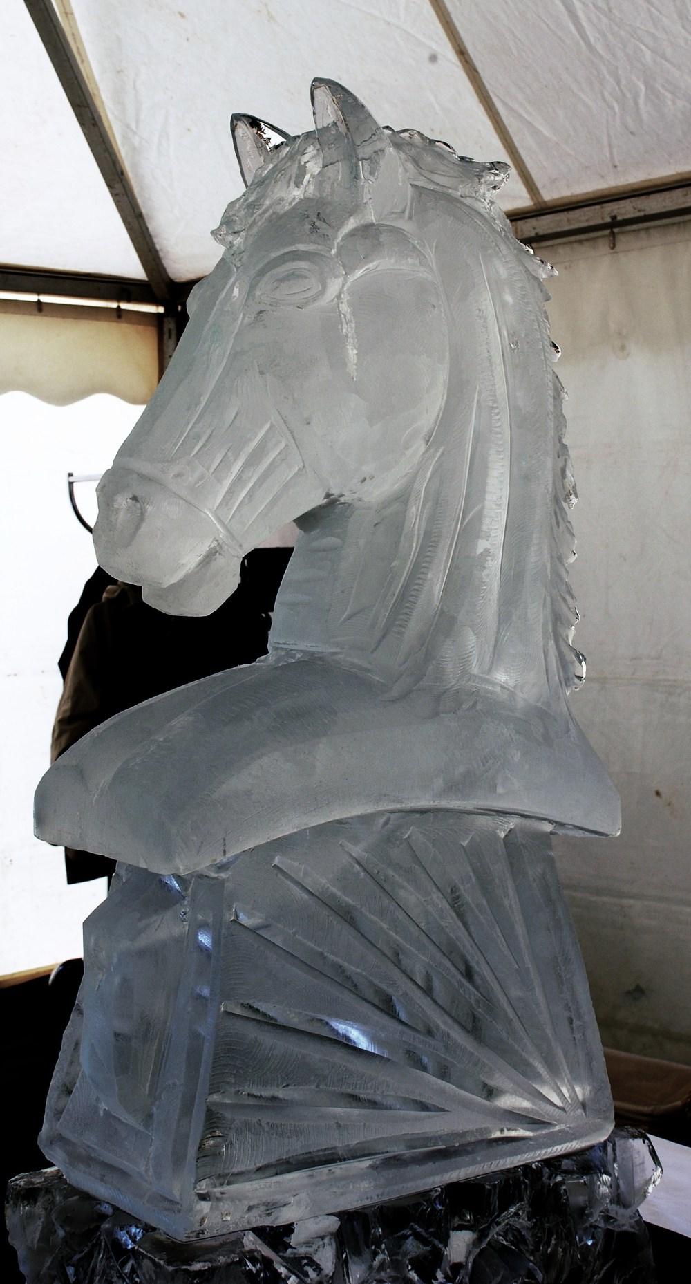 Horses Head Vodka Luge Sculpture