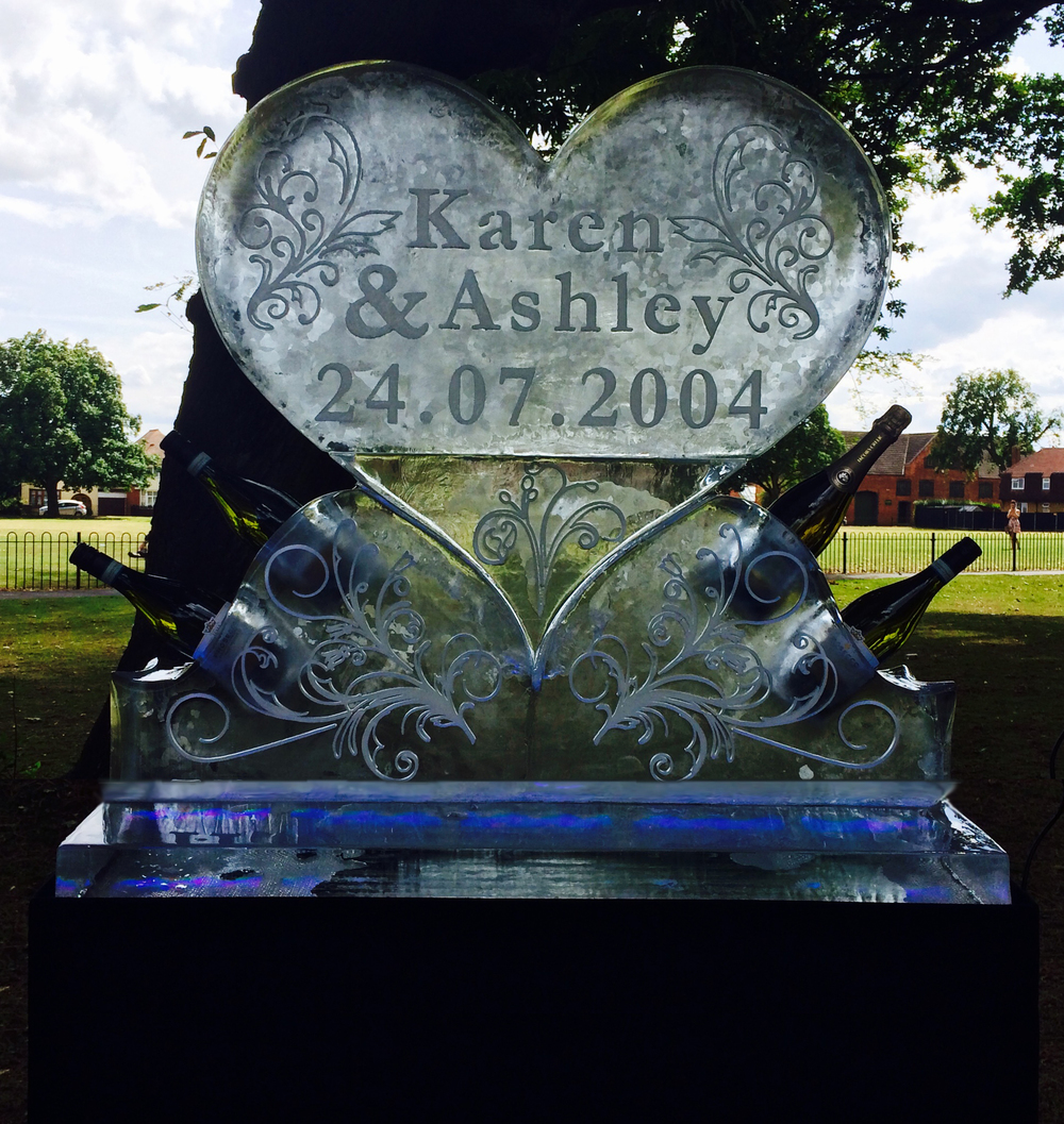 Anniversary Celebrations Heart Ice Sculpture
