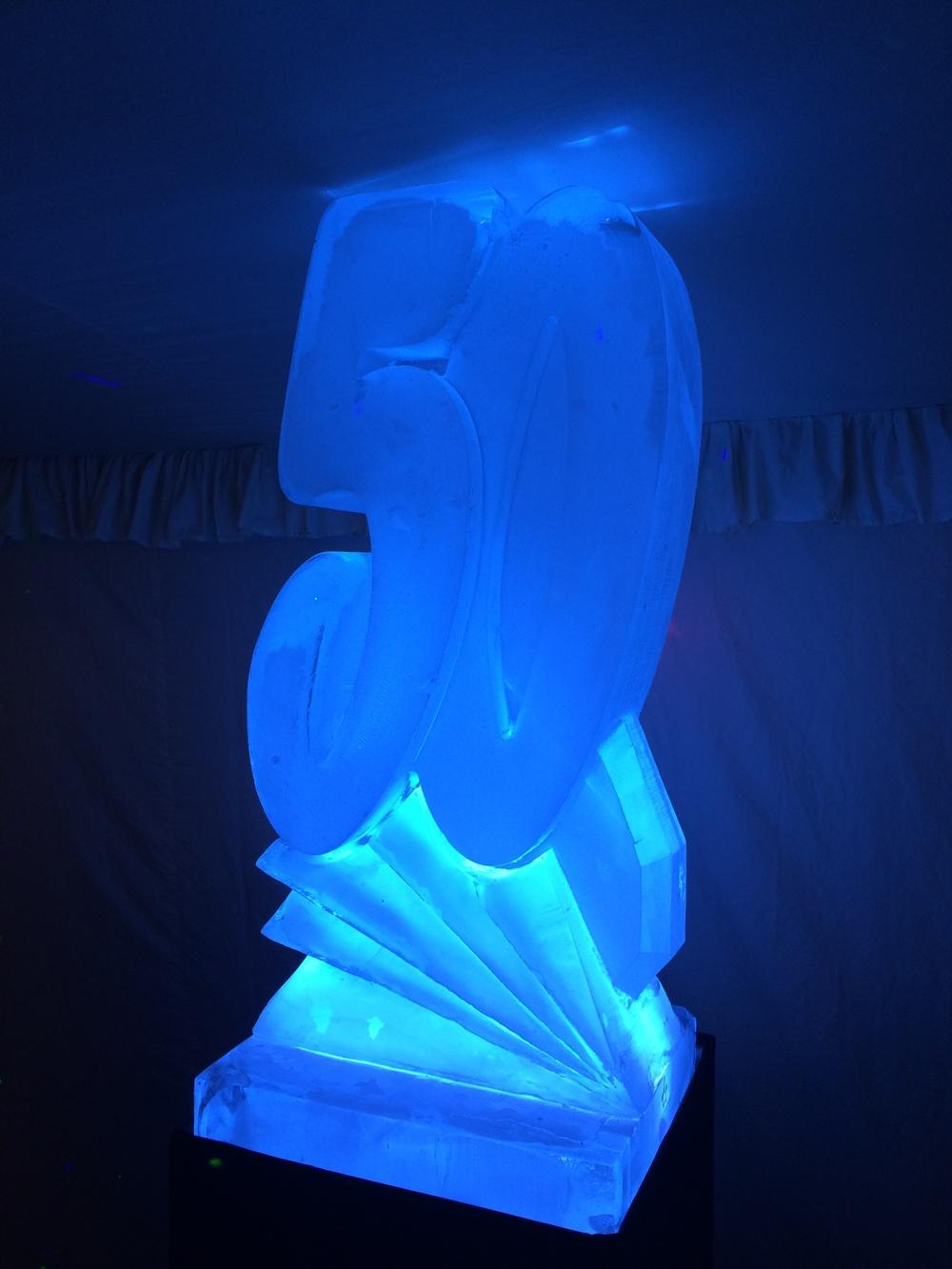 50 Birthday Ice Sculpture Vodka Luge