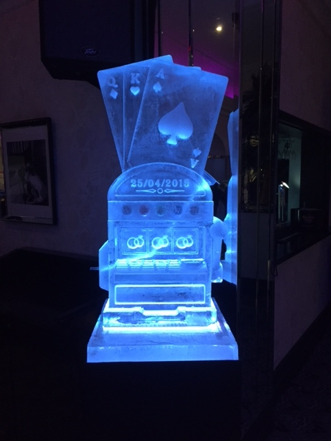 Slot Machine Vodka Luge - Wedding Ice Sculpture