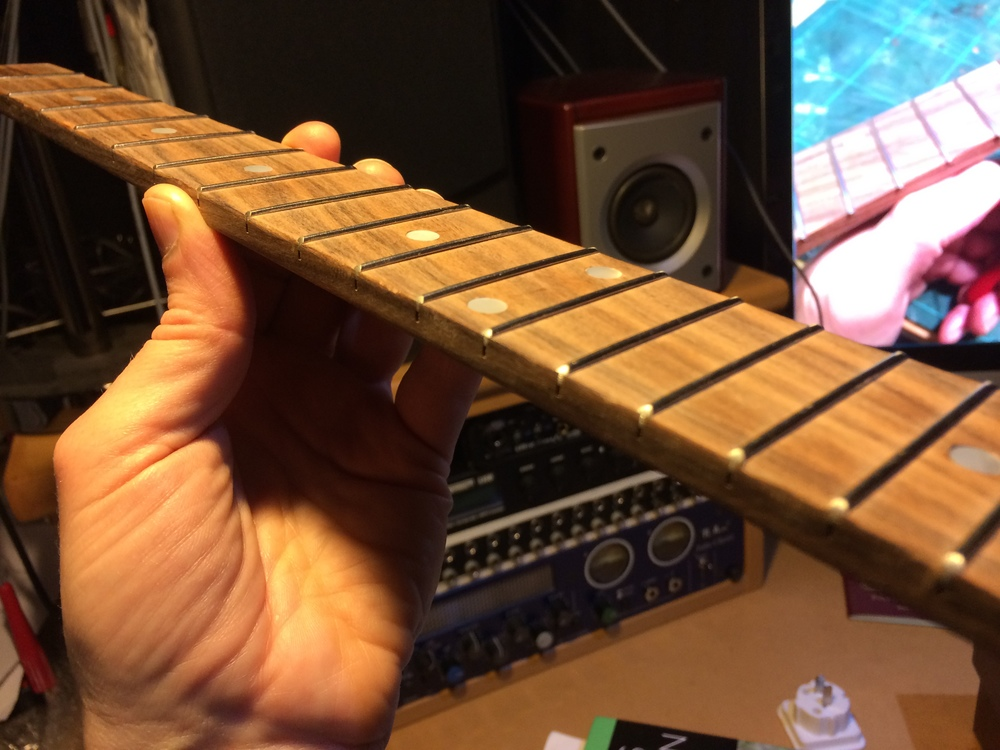 Finished fretboard