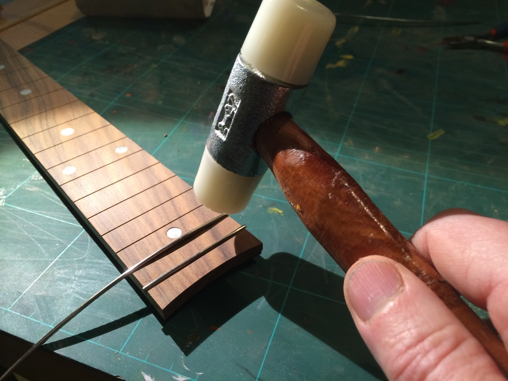 Inserting fret wire