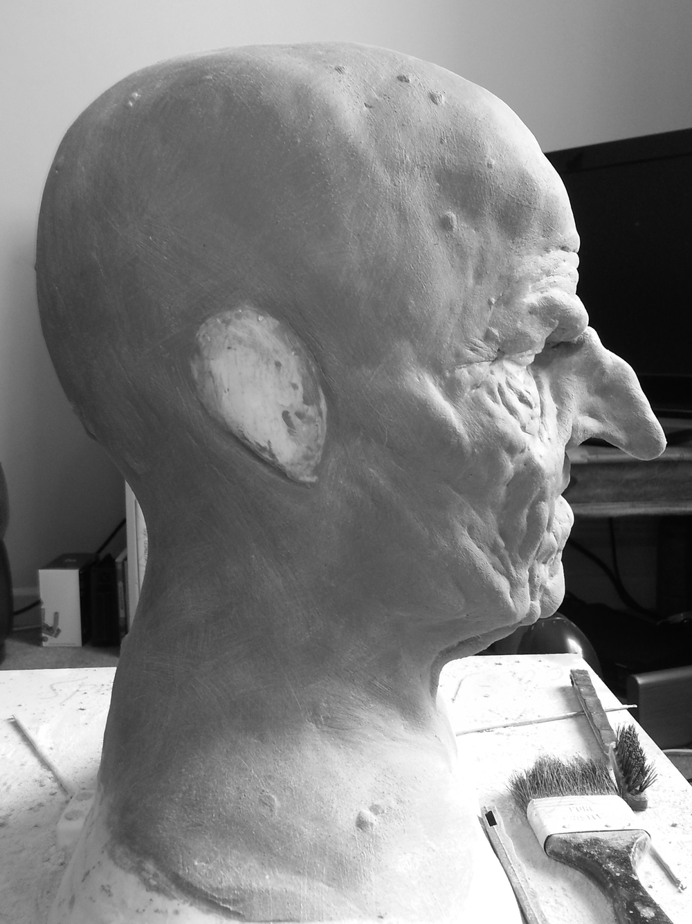 Full Head Prosthetic Sculpt in La Beau Touche