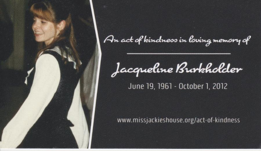 Jacqueline Burkholder - Kindness Card (front)
