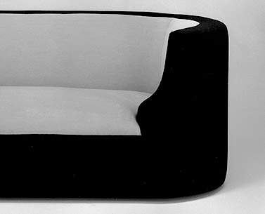 CH62: 1923-27  |                                      Pierre Chareau                                      Two seat sofa with hardwood frame covered with expanded foam. Not removable upholstery velvet.