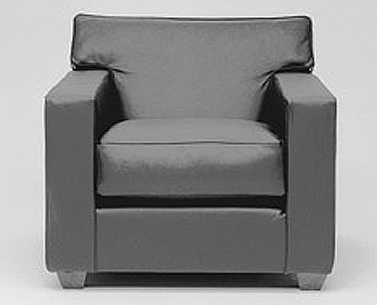 FR11:  1930  |                                      Jean Michel Frank                                       Armchair with hardwood frame covered with expanded foam and polyester fiber. Cushions in foam and down. Upholstery options are leather or removable fabric slip cover.