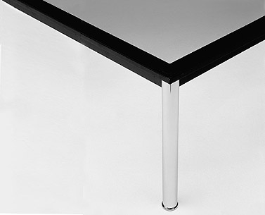 "CO29:  1927-1928  |                                        Le Corbusier                                     Rectangular  table. Frame in lacquered steel. Legs in chrome  plated tubular steel. Available either  cm 37 (14.5"") or cm 72 (28.3"") high."