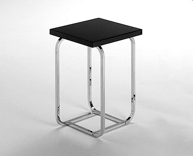 FP09-1: 1930 ca.  |                                      Paul Theodore Frankl                                      Table with chromed squared square steel tube frame. Top available in several finishes.