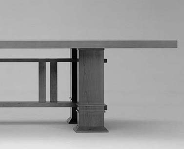 WR19: 1915-25  |                                      Frank LLoyd Wright                                       Table in solid and veneered cherrywood. Available   walnut or black painted.