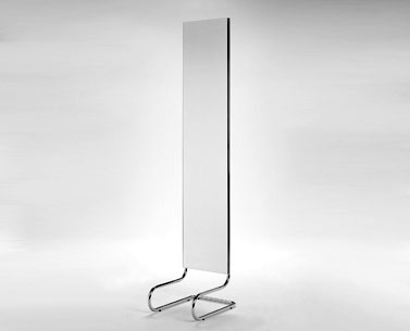 LR30:  927  |                                      Lilly Reich                                       Pier-mirror with chromed tubular steel frame.
