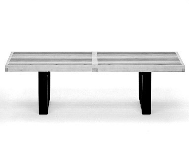 NE66:  1947  |                                      George Nelson                                       Bench with hardwood top and base natural or black lacquered.