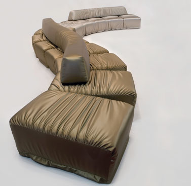 CHANGE 7-SEATS: 2010  |                                       Massimo Imparato                                        Change is an endless sectional seating system, with seven seats. Wooden structure lined with foam, with cushions and backrest in different density foam and removable upholstery in leather or fabric.