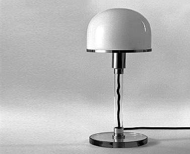 JU18:  1924  |                                      Carl Jacob Jucker                 Table lamp with base in cut glass and chrome fittings. Stem of tubular glass. Shade in blown opaline glass. Max recommended 75w.