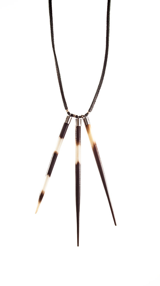 Multi Spike Necklace - Black.jpg