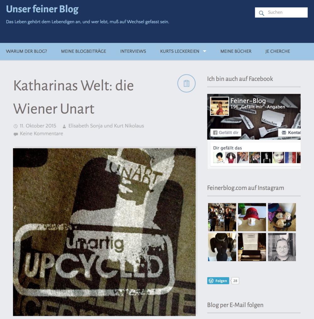 wiener unart blog
