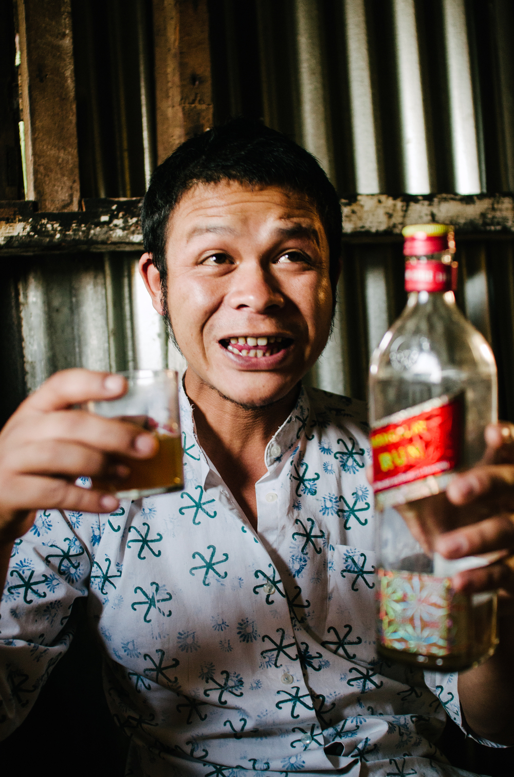 andalay Rum is a favourite drink in the region. The emptied bottles are then used to store rice moonshine.